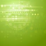 Fundo verde do vetor da olá!-tecnologia Imagens de Stock