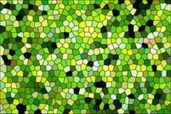 Fundo verde do vitral Fotografia de Stock Royalty Free