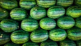 Fundo verde doce das melancias fotografia de stock