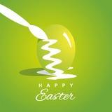 Fundo verde dos ovos da páscoa da coloração ilustração do vetor