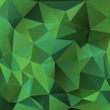 Fundo verde dos triângulos Fotos de Stock Royalty Free