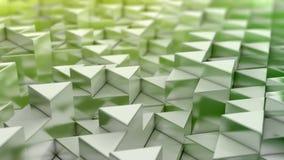 Fundo verde dos triângulos Foto de Stock Royalty Free