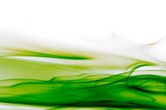 Fundo verde e branco abstrato Imagem de Stock