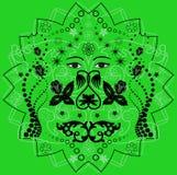 Fundo verde e preto abstrato Imagem de Stock