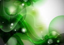 Fundo verde estilizado da flor. Foto de Stock