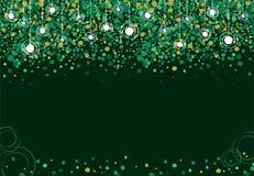 Fundo verde feito das luzes Foto de Stock