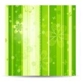 Fundo verde floral Stripy da mola Fotos de Stock
