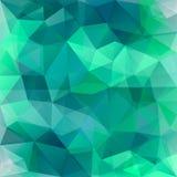 Fundo verde geométrico do poligon do sumário que consiste em triângulos ilustração stock