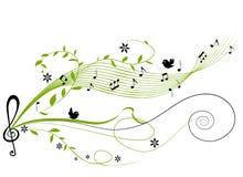 Fundo verde musical Imagem de Stock Royalty Free