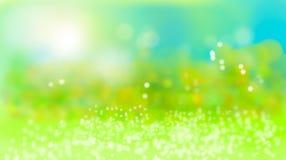 Fundo verde natural do bokeh do verão ilustração royalty free