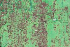 Fundo verde oxidado corroído do metal Imagem de Stock
