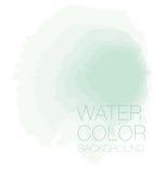 Fundo verde pastel natural do watercolour, Imagens de Stock