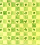 Fundo verde pintado mão Imagem de Stock