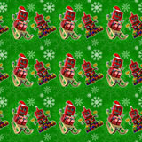 Fundo verde sem emenda do Natal Fotos de Stock Royalty Free