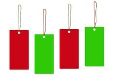 Fundo verde vermelho do branco da etiqueta Imagem de Stock