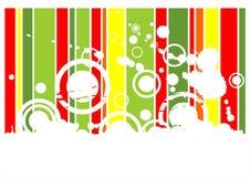 fundo Verde-vermelho do grunge Fotos de Stock Royalty Free