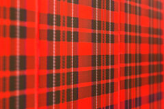 Fundo verificado Scottish do teste padrão Foto de Stock Royalty Free