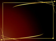 Fundo vermelho 4 do ouro elegante Foto de Stock Royalty Free