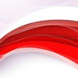 Fundo vermelho abstrato com onda Ilustração do vetor Imagens de Stock