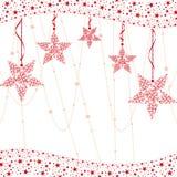 Fundo vermelho abstrato da estrela do Natal Foto de Stock Royalty Free