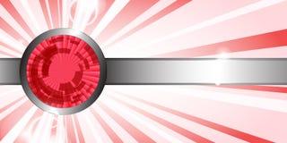 Fundo vermelho abstrato da tecnologia ilustração stock