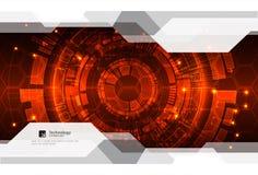 Fundo vermelho abstrato da tecnologia de comunicação digital ilustração stock
