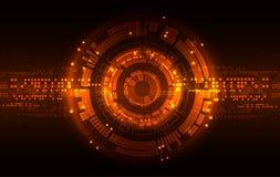 Fundo vermelho abstrato da tecnologia de comunicação digital Vetor ilustração stock