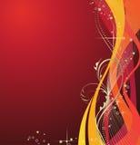 Fundo vermelho abstrato do feriado. Imagens de Stock Royalty Free