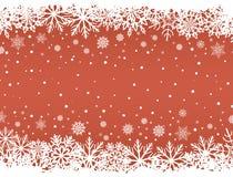 Fundo vermelho abstrato do Natal ilustração do vetor