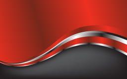 Fundo vermelho abstrato. Ilustração do vetor Imagens de Stock