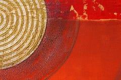 Fundo vermelho artístico abstrato Imagens de Stock Royalty Free