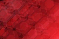 fundo vermelho bonito da geometria Imagem de Stock