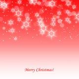 Fundo vermelho bonito do Natal Foto de Stock