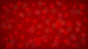 Fundo vermelho bonito dos corações Imagem de Stock