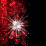 Fundo vermelho com bokeh Fotografia de Stock Royalty Free