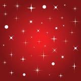Fundo vermelho com estrelas Foto de Stock Royalty Free