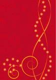 Fundo vermelho com flores Ilustração Royalty Free