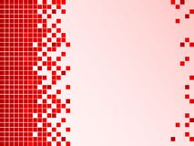 Fundo vermelho com pixéis Fotos de Stock