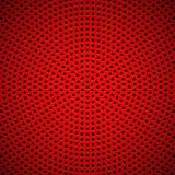 Fundo vermelho com teste padrão perfurado do círculo ilustração royalty free