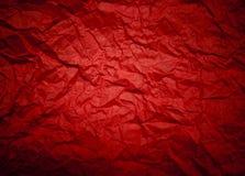 Fundo vermelho com vignetting amarrotado do teste padrão e da lente. (horiz Foto de Stock