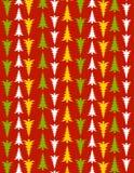 Fundo vermelho da árvore de Natal Fotos de Stock