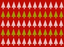 Fundo vermelho da árvore de Natal Imagens de Stock Royalty Free
