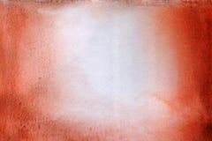 Fundo vermelho da aquarela de Brown Foto de Stock