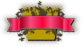 Fundo vermelho da bandeira ilustração royalty free