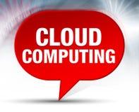 Fundo vermelho da bolha de Cloud Computing ilustração do vetor