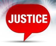 Fundo vermelho da bolha de justiça ilustração stock