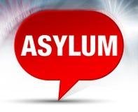 Fundo vermelho da bolha do asilo ilustração do vetor