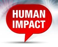 Fundo vermelho da bolha do impacto humano ilustração do vetor