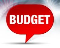 Fundo vermelho da bolha do orçamento ilustração do vetor