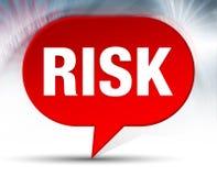 Fundo vermelho da bolha do risco ilustração do vetor